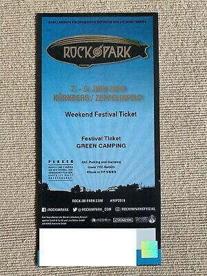 1 x Rock im Park 2019 Weekend Festival Ticket - Green Camping