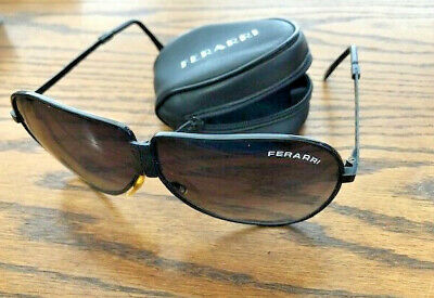 4ffd10f399 Vintage Ferarri Ferrari Foldable Folding Aviator Sunglasses with zippered  Case