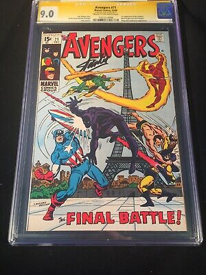 Avengers #71 (1969) Key 1st Appearance The Invaders CGC 9.0 Signed Stan Lee