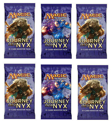 Six (6) Journey into Nyx   Booster Packs Pack 1/6 Box MTG   English   Free Ship