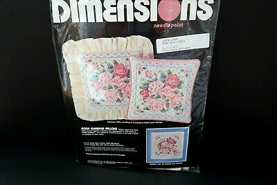 Pink Rose Garden PILLOW or PICTURE Kit 1988 Needlepoint Dimensions NIP Kit 2351