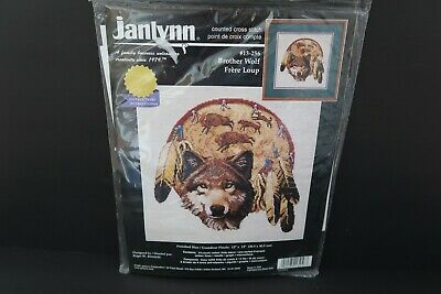 Janlynn Brother Wolf Dreamcatcher Counted Cross Stitch Kit 13-256 Reinardy 1998