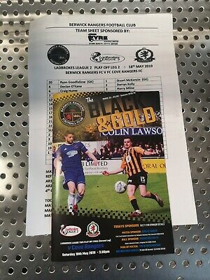 Berwick Rangers V Cove Rangers Play Off Final.18Th May 2019(Last Game In Spfl).