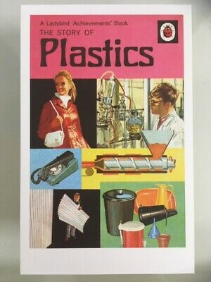 POSTCARD Ladybird Book The Story of Plastics childrens classic 1972