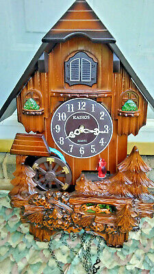 KAIROS Cuckoo Clock Quartz-movement Wall clock Brown