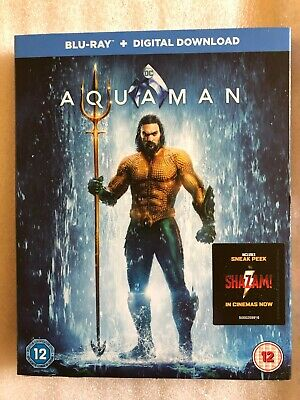 Aquaman Blu-Ray + Digital Download & Card Board Sleeve. Brand New. Still Sealed.