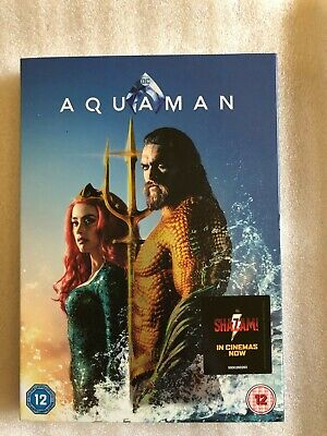 Aquaman Dvd + Digital Download & Cardboard Sleeve. Brand New. Still Sealed.
