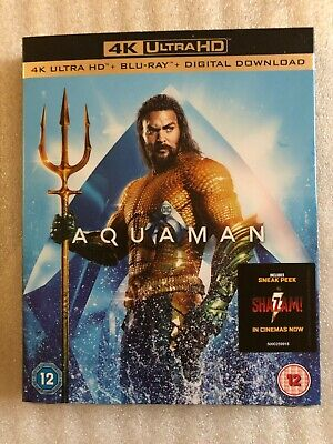 Aquaman 4K Ultra Hd + Blu-Ray + Digital Download With Card Board Sleeve. Sealed