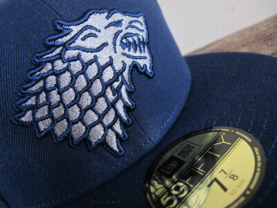 7-5//8 Rare Limited Edition Game Of Thrones Stark New Era 59Fifty Fitted Hat Sz