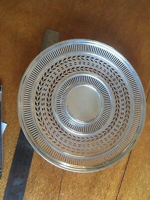 Alvin Sterling Silver Reticulated Dish