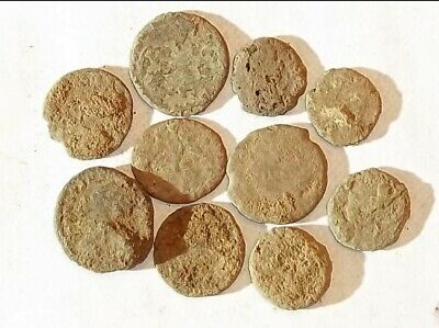 10 ANCIENT ROMAN COINS AE3/4 - Uncleaned and As Found! - Unique Lot X11830