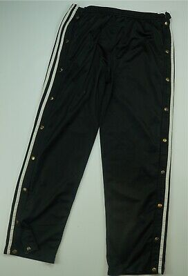 Adidas Sweat Pants Adult Large Gray White Stripes Spell Out Warm Up 90s A43