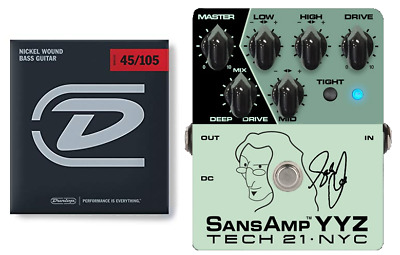 Tech 21 Geddy Lee Signature SansAmp YYZ Bass Guitar Effect Pedal (BASS STRINGS )