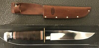 Ka-Bar Bowie Leather Hunting Skinning Fighting Knife 02-1236 Mib!
