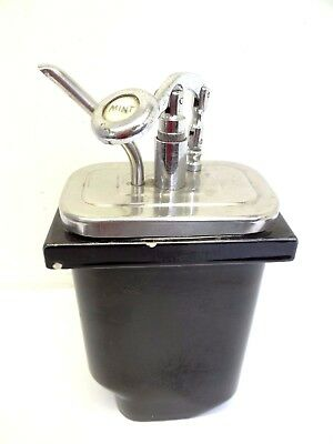Vintage Ice Cream Shop Syrup Mint Flavor Soda Fountain Hall USA Insert Dispenser