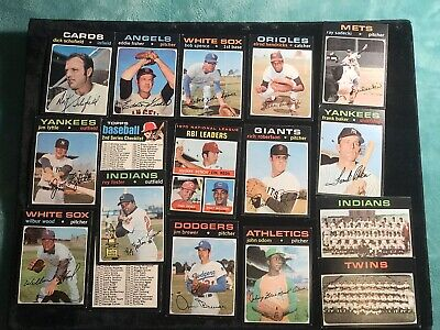 Lot Of (17) 1971 Topps Vintage Baseball Cards (Ex/Ex+) Clean Sharp Nice Lot!!