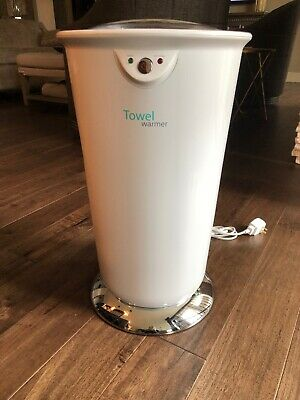"Brookstone 22"" Large Towel Warmer EUC BEAUTIFUL at Any Angle Works Great!"