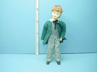 "Erna Meyer Handcrafted Miniature Young Boy /""Linus/"" #10202 Dollhouse Doll"