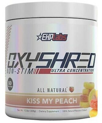 PRE-ORDER - OxyShred KISS MY PEACH by EHP Labs! No Stim. SELLING OUT FAST