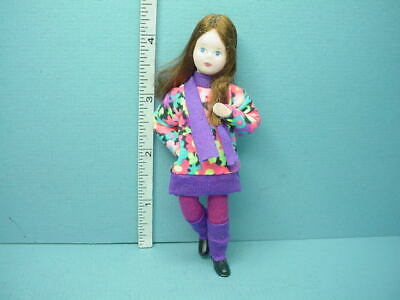 """Miniature Young Girl /""""Lilly/"""" #10110 Dollhouse Doll,Handcrafted Erna Meyer 12th"""