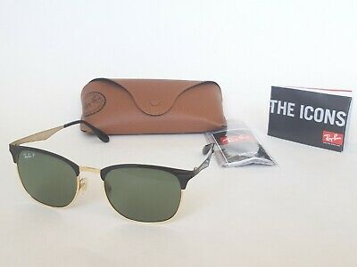 29a0b9f7cdb27 RAY-BAN SUNGLASSES 3538 187 9A Black   Gold Green Polarized - EUR ...