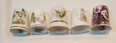 Royal Worcester,Butterflies-Wedgwood Beatrice Potter, Wild Strawberry.-Thimbles