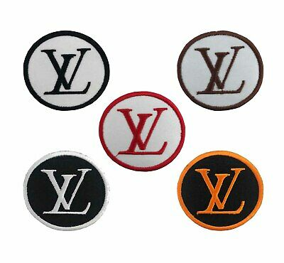 Embroidered LV LOGO sew badge iron on patch