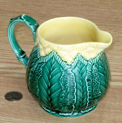 WEDGWOOD England CAULIFLOWER WARE milk pitcher MAJOLICA Etruria Barlaston