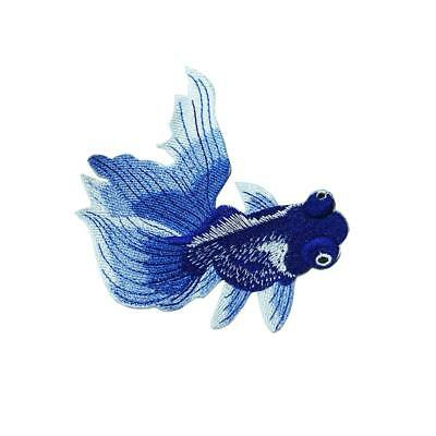 Fish Patch DIY Embroidered Iron on Patches Applique for Clothes Decoration JJ