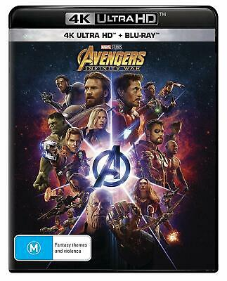 Avengers: Infinity War (4K Ultra HD Blu-ray) Blue ray HDR New Sealed AU