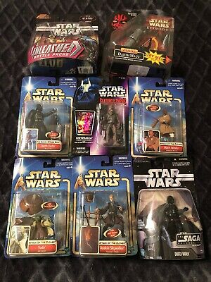 Star Wars Action Figure Lot 8, Yoda, Chewbacca, Darth Vader