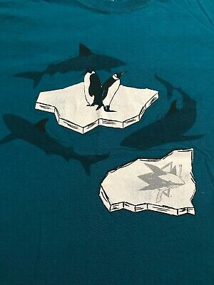 San Jose Sharks Shirt Size Large SGA vs Pittsburgh Penguins Playoff