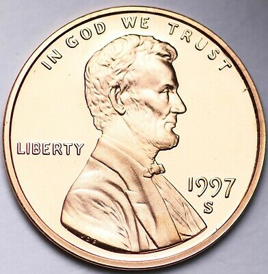 PROOF 1997 S Lincoln Memorial Cent Penny FREE SHIPPING
