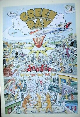 GREEN DAY Dookie US Record Store Promo Poster Mint- 1994 ORIGINAL!