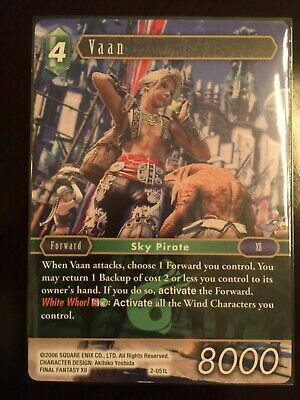 Vaan 2-051L NM Near Mint Final Fantasy TCG FFTCG Opus II 2