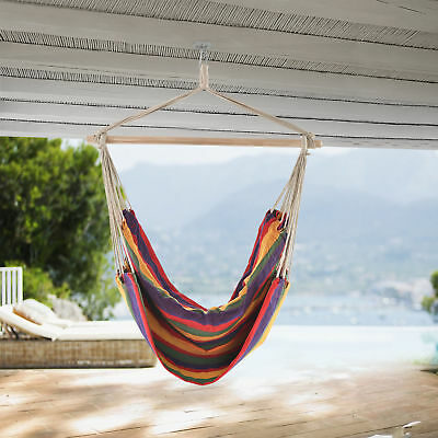 [casa.pro]® XXL Hanging Swing Chair MULTICOLOR Hanging  Swing Chair Hammock
