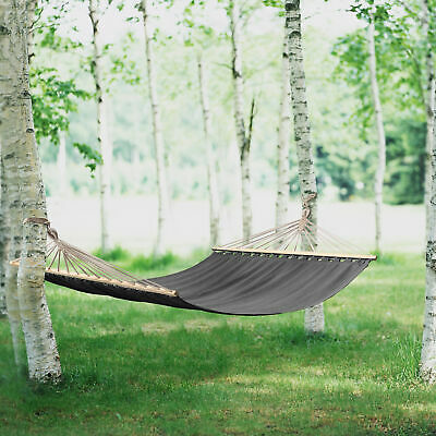 [casa.pro]® XXL Camping Garden Hammock up to 200kg Grey Outdoor 200x150cm