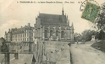 Cp Thouars Sainte Chapelle Chateau