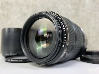 Canon Zoom Lens EF 75-300mm F4-5.6 IS USM Image Stabilizer In VG Condition