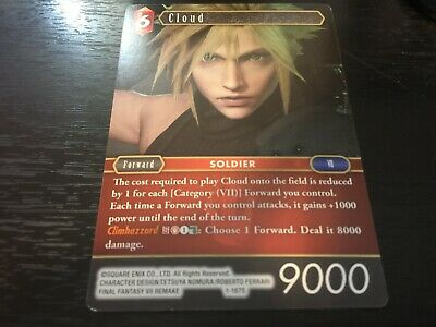 Cloud 1-187S NM Near Mint Final Fantasy TCG FFTCG Opus I 1