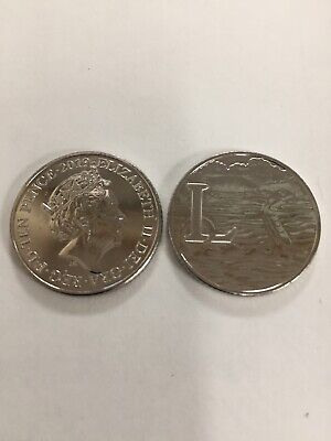 new 10p coin Letter L Loch Ness