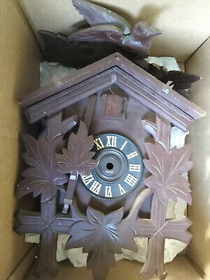 cuckoo clock case with pendulum and bellows for spares