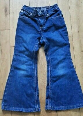 Girls Tommy Hilfiger Blue Denim Jeans Bootleg  Age 4 Years excellent condition