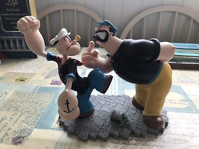 Rare Resin Vintage Popeye And Bluto Statue By King Features Syndicate