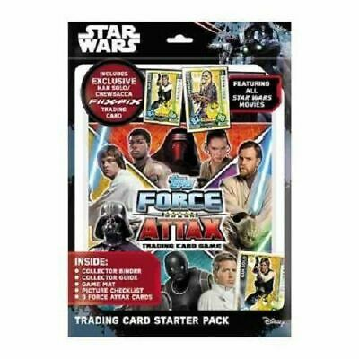 Topps STAR WARS Force Attax Trading Card Starter Pack *Han Solo / Chewbacca Card