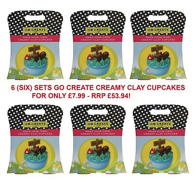 Wholesale Job Lot Toys - Go Create Creamy Cupcake Clay Set - 6 Boxes RRP £53.94