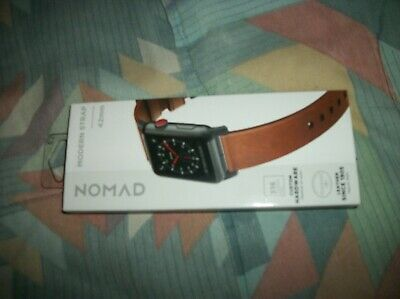 Gorgeous! Apple NOMAD LEATHER watch band 42/44mm Paid 59+tax