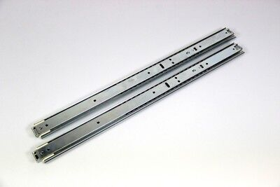 "2x Telescopic Rail 17 "" Full Extension with Locking Length 535/1115 mm - 50 KG"