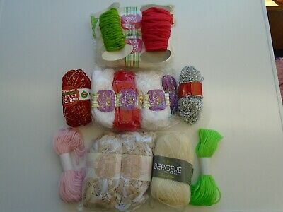 Job lot/Bundle of wool, toys, squares etc.