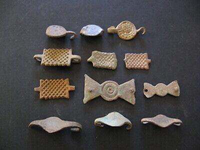 12 Magic Symbols Appliques Ancient Celtic Bronze Belt Decorations 500-300 B.c.
